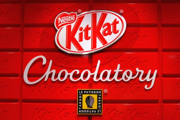 What candy bar is considered good luck in japan?