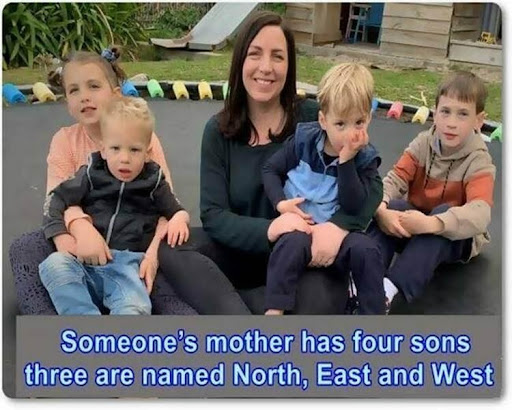 Someone's mother has 4 sons: north, west, and south. what is the name of the fourth son.